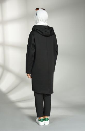 Scuba Fabric Tunic Trousers Double Suit 21015-01 Black 21015-01