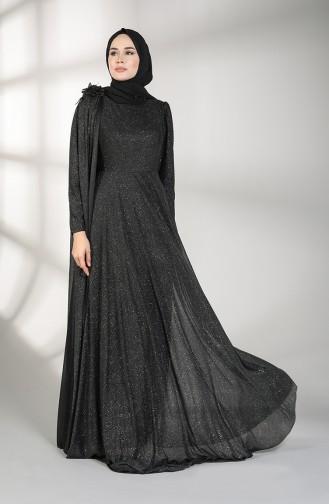 Habillé Hijab Noir 3050-06