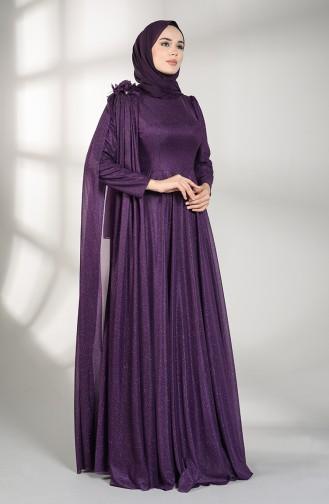 Silvery Evening Dress 3050-07 Damson 3050-07