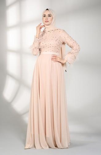 Puder Hijab-Abendkleider 3062-09