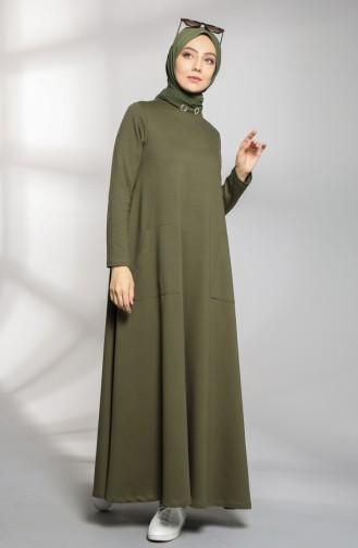 Dress with Two Thread Pockets 88105-08 Dark Khaki 88105-08