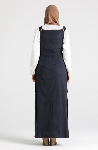 Dunkelblau Hijap Kleider 3217-01