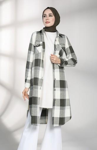 Checkered Tunic 3402-01 Khaki 3402-01