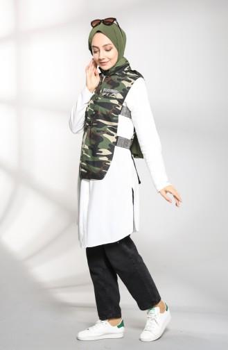 Army Green Waistcoats 2231-01