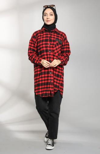 قميص أحمر 21K8124-01