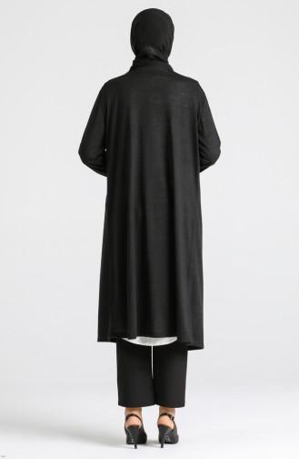 Schwarz Strickjacke 8128-02