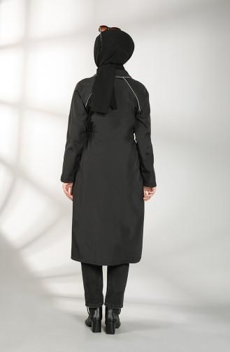 Elastic waist Coat 2086-04 Black 2086-04