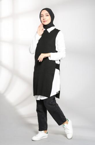 Black Sweater Vest 9K6919200-04