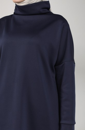 Scuba Fabric Tunic Trousers Double Suit 21001-05 Navy Blue 21001-05