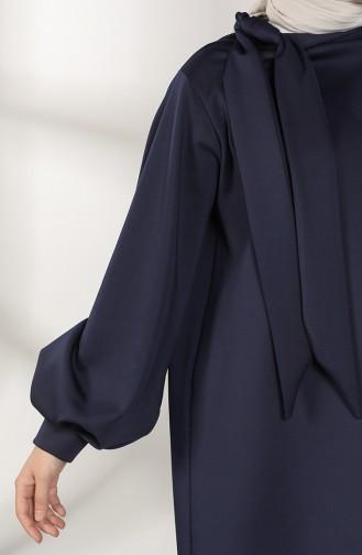 Scuba Fabric Tunic Trousers Double Suit 21004-01 Navy Blue 21004-01