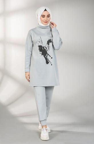 Scuba Fabric Tunic Trousers Double Suit 21010-04 Gray 21010-04