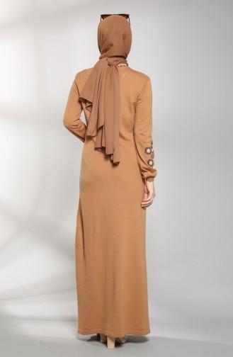 Robe Hijab Tabac 2312-02