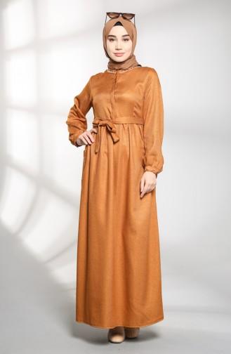 فستان أصفر خردل 21K8175-02