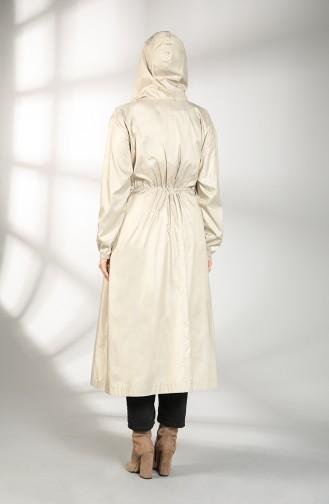 Beige Trench Coats Models 2051-01