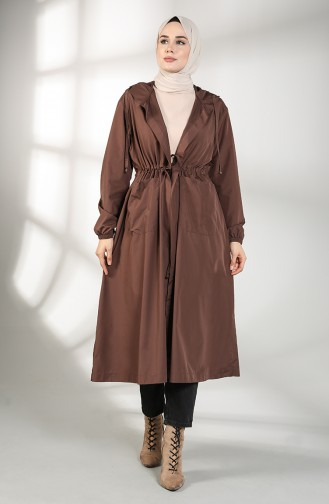 Brown Trench Coats Models 2051-02