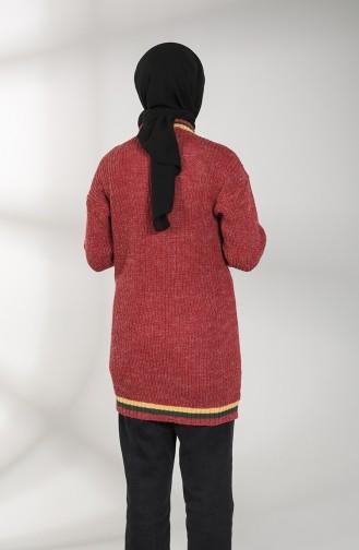 Knitwear V-neck Tunic 0594-08 Burgundy 0594-08