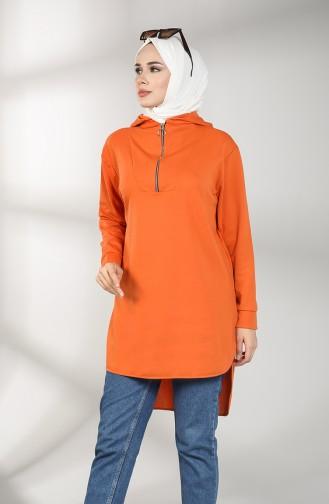 Hooded Asymmetric Tunic 8281-04 Orange 8281-04