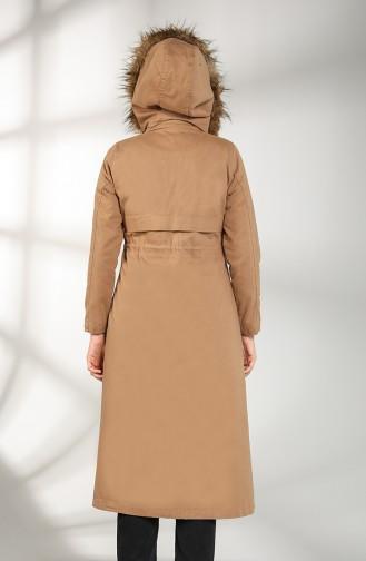 Fur Coat 7107-02 Milk Coffee 7107-02