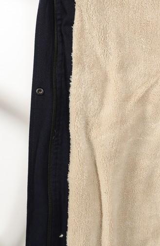 معطف أزرق كحلي 7107-03