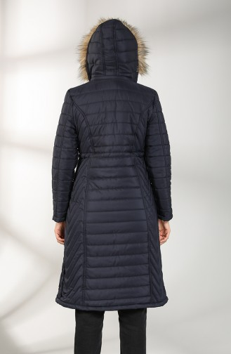 معطف أزرق كحلي 0136-01
