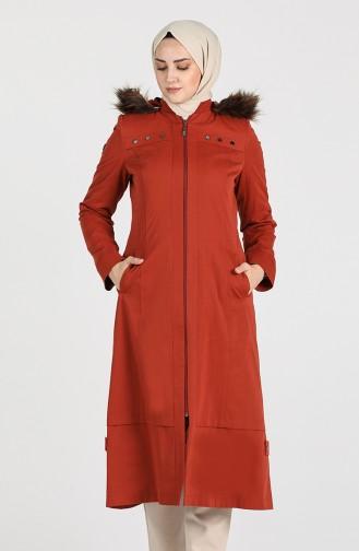 معطف قرميدي 4005-02