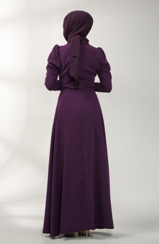 Lila Hijab-Abendkleider 5412-03