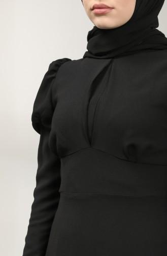 فساتين سهرة بتصميم اسلامي أسود 5412-04