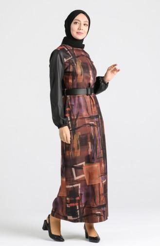 Belted Dress 4332-01 Tobacco 4332-01