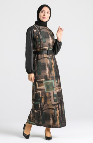 Belted Dress 4332-02 Khaki 4332-02