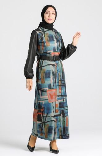 Belted Dress 4332-03 Indigo 4332-03