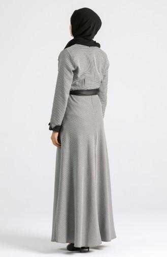 Belted Dress 4333-01 Black 4333-01