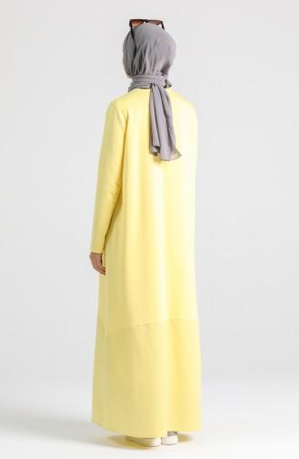 Robe Hijab Jaune 4640-01