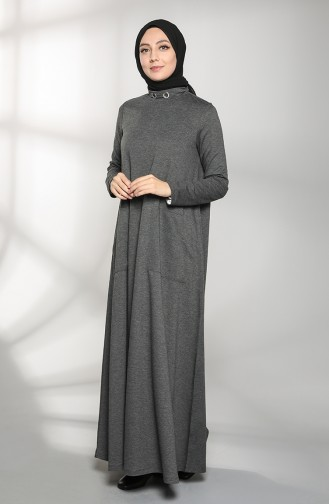 Dress with Two Thread Pockets 88105-09 Anthracite 88105-09