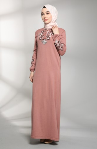 فستان زهري باهت 2312-01