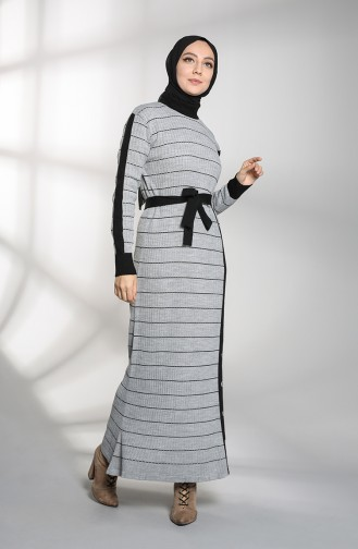 Robe Hijab Gris 8209-02