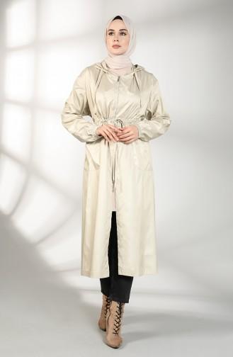 Beige Trench Coats Models 2050-01