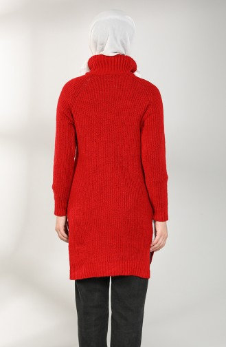 Knitwear Neck Tunic 3014-02 Red 3014-02