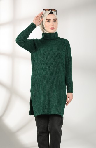 تونيك أخضر زمردي 3014-05