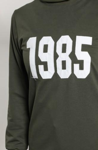 Printed Sports Tunic 0696-02 Khaki 0696-02