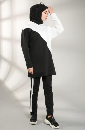 بيجامة الرياضة أسود 20075-01
