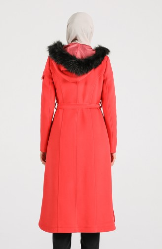 Fur Cachet Coat 4903-02 Coral 4903-02