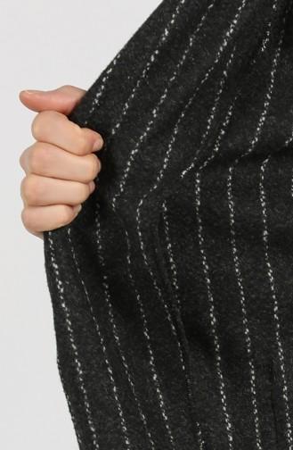 Black Lange Jas 21K8119H-01