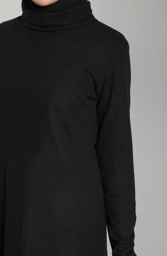 Triko Boğazlı Kazak 2088-01 Siyah