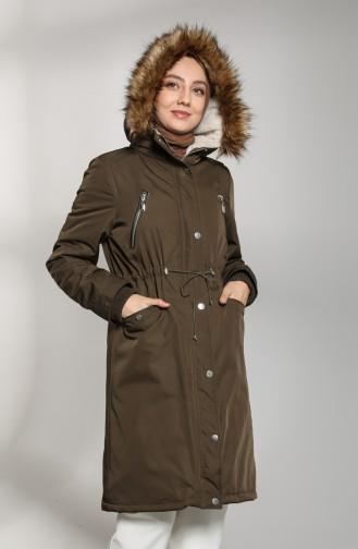 Khaki Winter Coat 6007-03