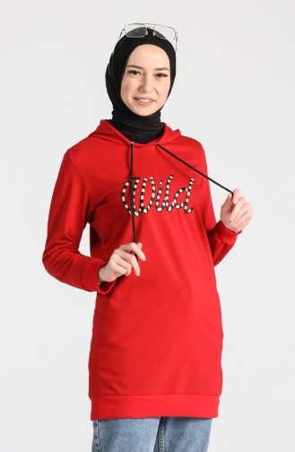 قميص رياضي أحمر كلاريت 0722-05