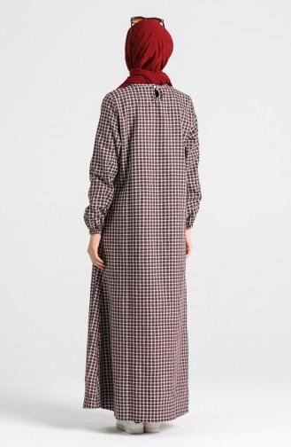 A Pile Elbise 1436-03 Bordo