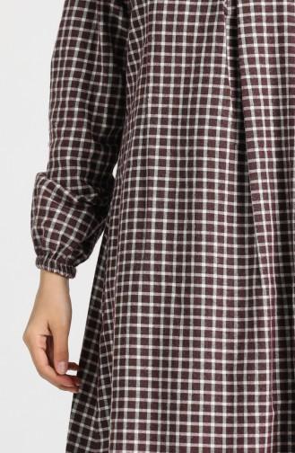 A Pleat Dress 1436-03 Burgundy 1436-03