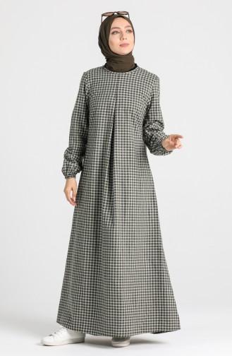Khaki Hijap Kleider 1436-04