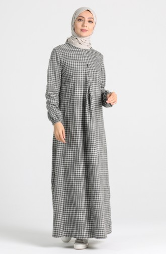 A Pleat Dress 1436-07 Gray 1436-07