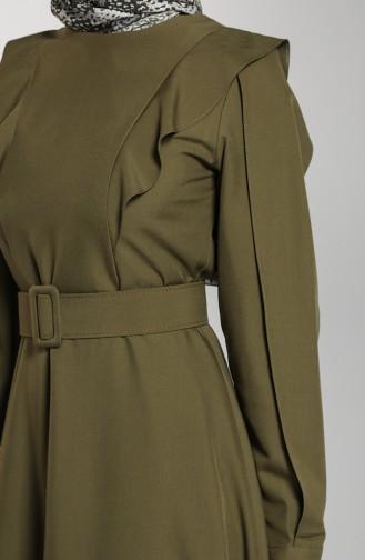 Flannel Dress 8001-01 Khaki 8001-01